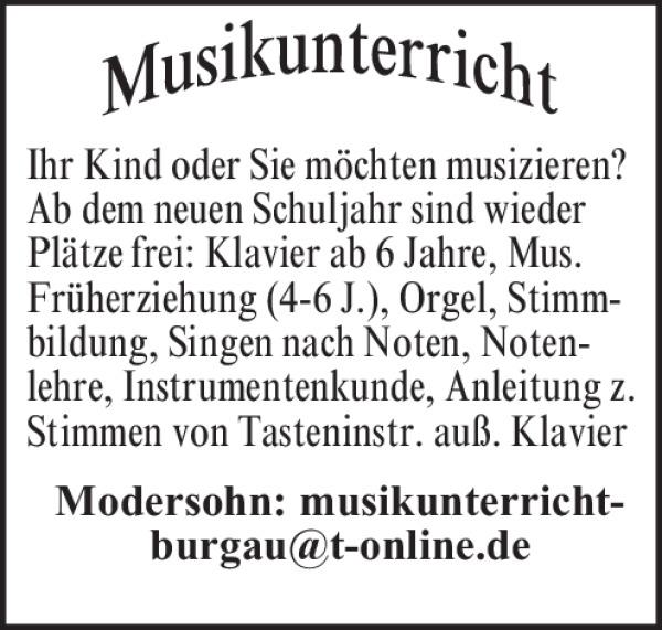 Musikunterricht Burgau